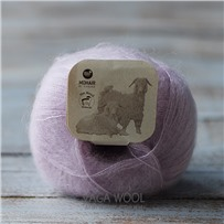 Пряжа Brushed lace Бледная роза 3038, 210м/25г, Mohair by canard, Rosa