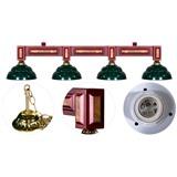 """Лампа на четыре плафона """"Dandy"""", интернет-магазин товаров для бильярда Play-billiard.ru"""