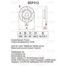 BDF012. Передняя ось. Перфорация + слоты