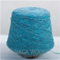 Пряжа Твид-мохер Бирюза 2724, 200м/50г Knoll Yarns, Mohair Tweed, Tupilo