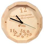 Часы кварцевые для бани и сауны Банные Штучки В бане всегда время париться 39100