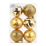 Набор ёлочных шаров INGE'S Christmas Decor 81075G001 d 8 см, золотой (6 шт)