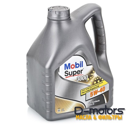 Моторное масло Mobil Super 3000 X1 5W-40 (4л.)