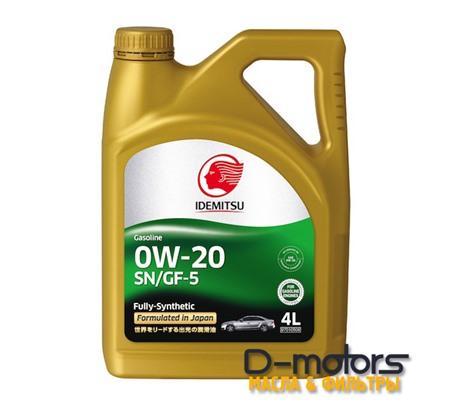 Моторное масло Idemitsu 0W-20 (4л.)