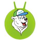 """Мяч-попрыгун """"Медвежонок"""" GB-403, 65 см, с рожками, зеленый"""