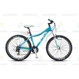 Велосипед Stels Miss 7100 V 26 (2016) Голубой/Салатовый/Белый , интернет-магазин Sportcoast.ru