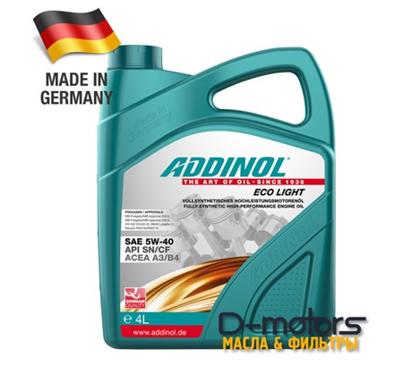 ADDINOL ECO LIGHT 5W-40 (4л)