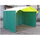 Палатка торговая Митек Домик 2,0х2,0 (труба D - 25 мм) (2 места) (Желтый/Синий)