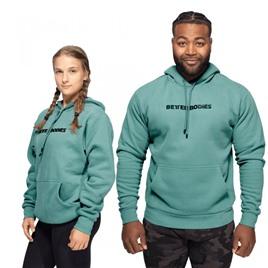 Унисекс толстовка Better Bodies Logo Hoodie, морской зелёный