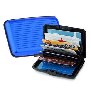 Алюминиевый рифленый кошелек Aluma Wallet (Алюма Валет) цвет синий, оригинал в коробочке.