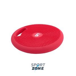 Массажно-балансировочная подушка с ручкой красная