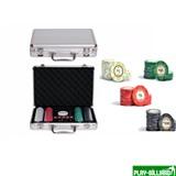 Набор для покера Luxury Ceramic на 200 фишек, интернет-магазин товаров для бильярда Play-billiard.ru