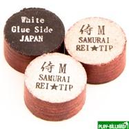 REI TIP & MAX Co. Наклейка для кия «Rei Samurai White» (M) 14 мм, интернет-магазин товаров для бильярда Play-billiard.ru. Фото 1