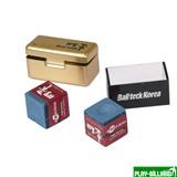 Ball Teck Мел «Ball teck PRO II» (2 шт, в золотистой металлической коробке) синий, интернет-магазин товаров для бильярда Play-billiard.ru