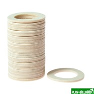 Weekend Кольцо пластиковое для шафта упаковка 25 шт. (белое, 1.6мм, н/д 25мм, в/д 16мм), интернет-магазин товаров для бильярда Play-billiard.ru. Фото 1