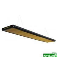 Norditalia Ricambi Лампа плоская люминесцентная «Longoni Nautilus» (черная, золотистый отражатель, 320x31x6см), интернет-магазин товаров для бильярда Play-billiard.ru