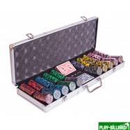 Набор для покера Lux на 500 фишек, интернет-магазин товаров для бильярда Play-billiard.ru. Фото 6