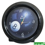 Weekend Часы настенные (черные), интернет-магазин товаров для бильярда Play-billiard.ru