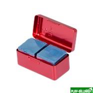 Ball Teck Мел «Ball teck PRO II» (2 шт, в красной металлической коробке) синий, интернет-магазин товаров для бильярда Play-billiard.ru. Фото 10