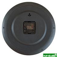 """Часы настенные """"12 шаров"""" D32 см (черные), пластик, интернет-магазин товаров для бильярда Play-billiard.ru. Фото 2"""