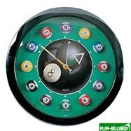 Weekend Часы настенные «12 шаров» D30см, интернет-магазин товаров для бильярда Play-billiard.ru