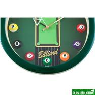 Weekend Часы настенные «12 шаров» D30 см (зеленые), пластик, интернет-магазин товаров для бильярда Play-billiard.ru. Фото 6