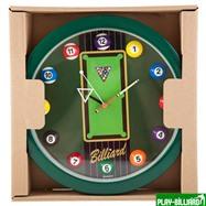 Weekend Часы настенные «12 шаров» D30 см (зеленые), пластик, интернет-магазин товаров для бильярда Play-billiard.ru. Фото 2