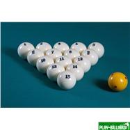 Aramith Saluc Комплект шаров 67 мм «Super Aramith Pro Tournament», интернет-магазин товаров для бильярда Play-billiard.ru. Фото 2