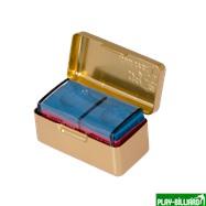 Ball Teck Мел «Ball teck PRO II» (2 шт, в золотистой металлической коробке) синий, интернет-магазин товаров для бильярда Play-billiard.ru. Фото 6