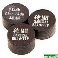 REI TIP & MAX Co. Наклейка для кия «Rei Samurai Black» (MH) 14 мм, интернет-магазин товаров для бильярда Play-billiard.ru. Фото 1
