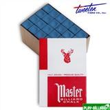Tweeten Мел «Master» (72 шт) синий, интернет-магазин товаров для бильярда Play-billiard.ru