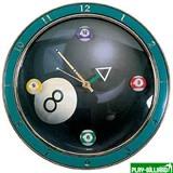 Weekend Часы настенные «4 шара» D30см, интернет-магазин товаров для бильярда Play-billiard.ru