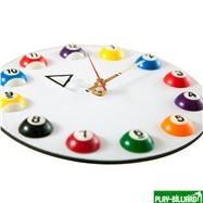 """Часы настенные """"12 шаров"""" D20,5 см (белые), пластик, интернет-магазин товаров для бильярда Play-billiard.ru. Фото 3"""