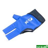 """Перчатка бильярдная """"K-1"""" (черно-синяя, вставка кожа), интернет-магазин товаров для бильярда Play-billiard.ru. Фото 1"""