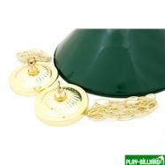 Лампа на два плафона «Evergreen» (золотистая штанга, зеленый плафон D35см), интернет-магазин товаров для бильярда Play-billiard.ru. Фото 2
