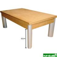 Weekend Бильярдный стол для пула «Toledo» 7 ф (дуб) со столешницей, в комплекте аксессуары, плита 19mm 1 pc + сукно, интернет-магазин товаров для бильярда Play-billiard.ru. Фото 2