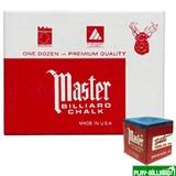 Tweeten Мел «Master» (12 шт) синий, интернет-магазин товаров для бильярда Play-billiard.ru