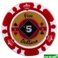 Набор для покера Crown на 500 фишек, интернет-магазин товаров для бильярда Play-billiard.ru. Фото 5