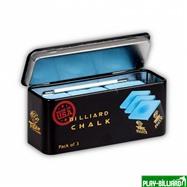 "TIGER Мел ""Tiger High Performance Chalk"" (3 шт) синий, интернет-магазин товаров для бильярда Play-billiard.ru. Фото 1"