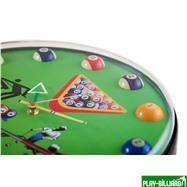 Weekend Часы настенные «12 шаров» D32 см (зеленые), пластик, интернет-магазин товаров для бильярда Play-billiard.ru. Фото 3