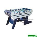 Настольный футбол (кикер) «Chelsea» (140x76x86, серебристо-синий, складной), интернет-магазин товаров для бильярда Play-billiard.ru