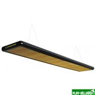 Norditalia Ricambi Лампа плоская люминесцентная «Longoni Nautilus» (черная, золотистый отражатель, 247x31x6см), интернет-магазин товаров для бильярда Play-billiard.ru