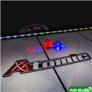 Weekend Шайба для аэрохоккея LED «Atomic Top Shelf» (прозрачная, красный светодиод) D76 mm, интернет-магазин товаров для бильярда Play-billiard.ru