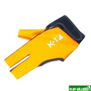 Ball Tek Перчатка бильярдная «K-1» (черно-оранжевая, вставка кожа), интернет-магазин товаров для бильярда Play-billiard.ru. Фото 1