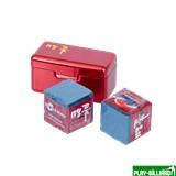 Ball Teck Мел «Ball teck PRO II» (2 шт, в красной металлической коробке) синий, интернет-магазин товаров для бильярда Play-billiard.ru