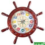 Weekend Часы настенные «Штурвал» 50 см х 50 см, деревянные, интернет-магазин товаров для бильярда Play-billiard.ru