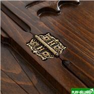 """Нарды резные """"Корона"""" с ручкой, Haleyan, интернет-магазин товаров для бильярда Play-billiard.ru. Фото 2"""