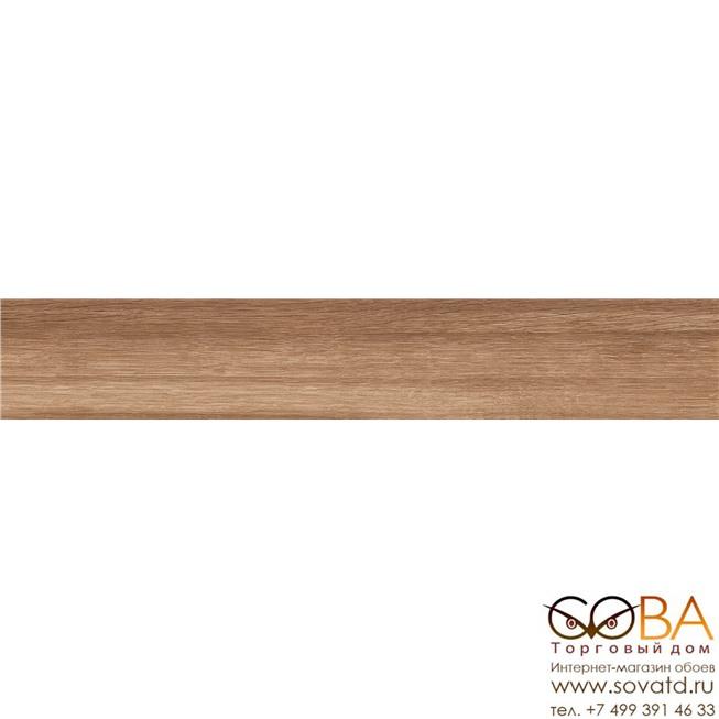 Керамогранит AmberWood Brown Bland  коричневый 120х19,5 матовый купить по лучшей цене в интернет магазине стильных обоев Сова ТД. Доставка по Москве, МО и всей России