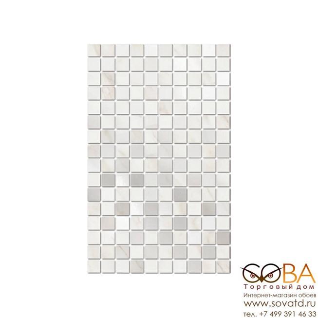 Декор Гран Пале  белый мозаичный MM6359 25х40 купить по лучшей цене в интернет магазине стильных обоев Сова ТД. Доставка по Москве, МО и всей России