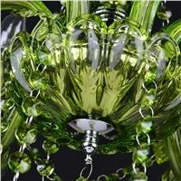 """Подвесная хрустальная люстра """"цветок"""" зеленая"""